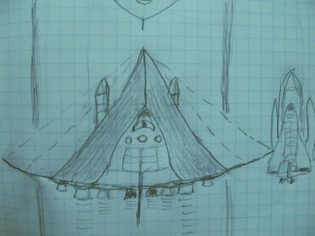 idée d'une future navette à décollage horizontal IMG_7046dessinfuturiste
